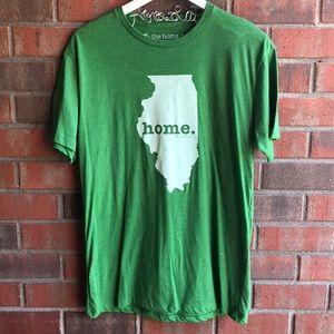 da94654503b Men s Chive Illinois Green Graphic Tee L